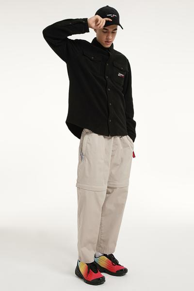 플리스 포켓 긴소매 셔츠