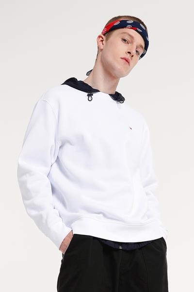 면혼방 플래그 패치 긴소매 맨투맨 티셔츠