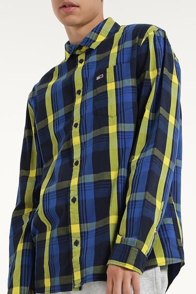 코튼 레귤러핏 멀티체크 셔츠