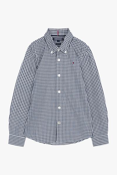 코튼 깅엄 체크 긴소매 셔츠