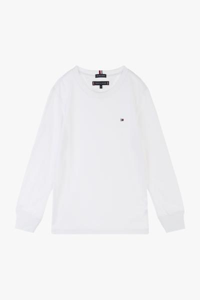 코튼 솔리드 크루넥 티셔츠