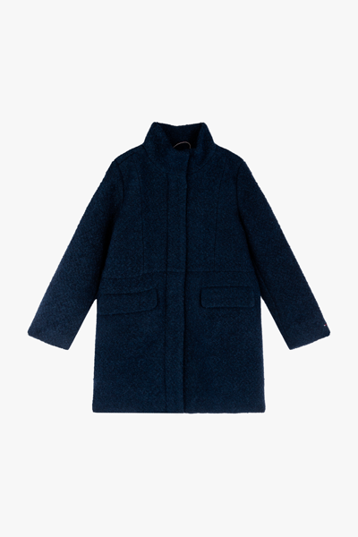 폴리혼방 베이직 목넥 코트