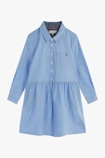 면혼방 클래식 솔리드 셔츠 드레스