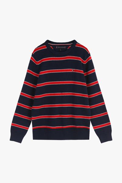 코튼 클래식 스트라이프 스웨터