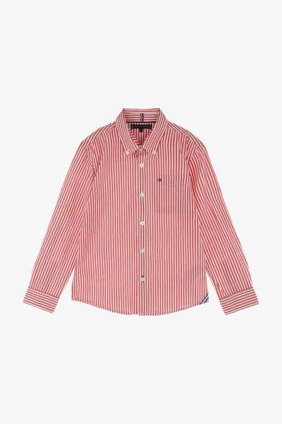 코튼 스트라이프 긴소매 셔츠