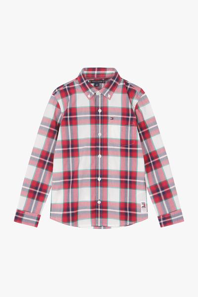 코튼 레귤러핏 캐주얼 체크 셔츠