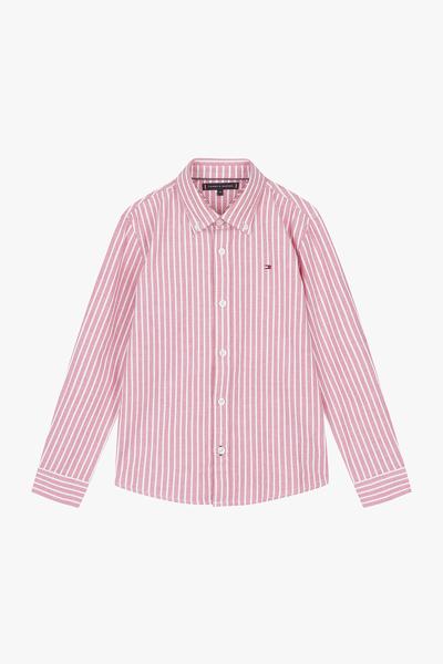 면혼방 스트라이프 긴소매 셔츠