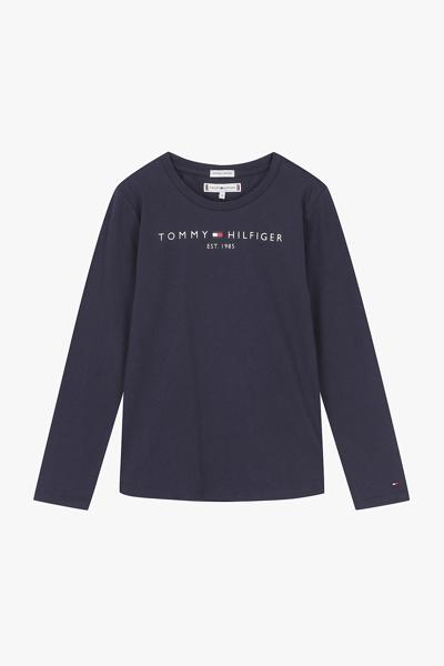 코튼 로고 페인팅 긴소매 티셔츠