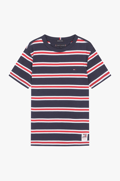 코튼 스탠다드핏 볼드 스트라이프 티셔츠