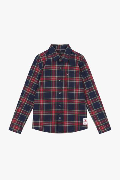 코튼 레귤러핏 타탄체크 옥스퍼드 셔츠