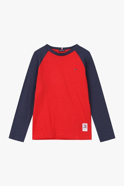 코튼 솔리드 레귤러 래글런 티셔츠