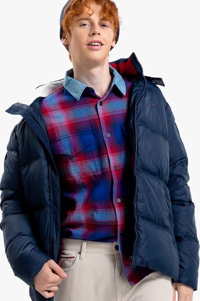 폴리 퀼팅 레귤러 다운 자켓