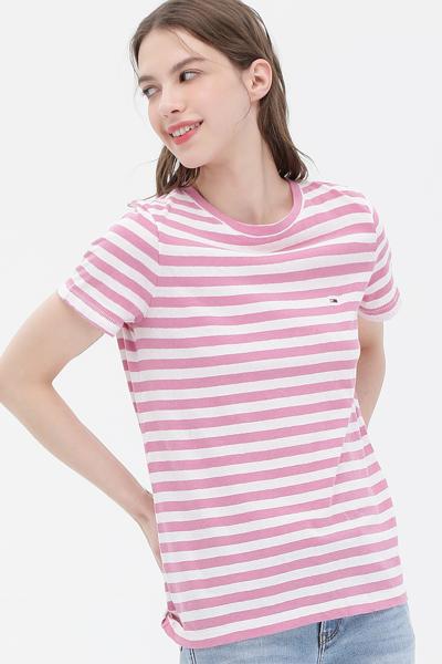 스트라이프 반소매 티셔츠