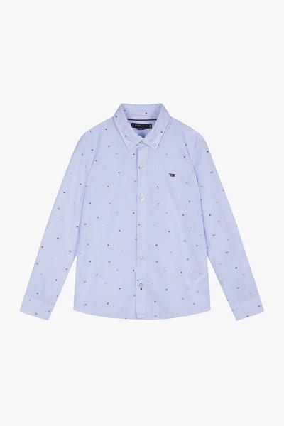 코튼 레귤러핏 프린트 셔츠