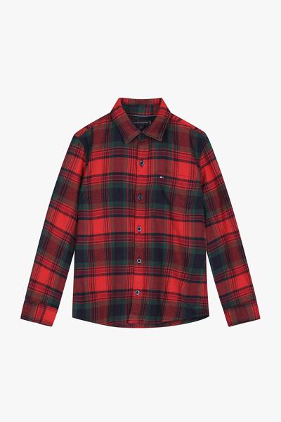 면혼방 스탠다드핏 플란넬 체크 셔츠