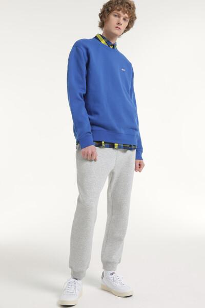 면혼방 미니뱃지 크루넥 맨투맨 티셔츠
