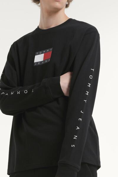 코튼 레터링 라운드넥 티셔츠