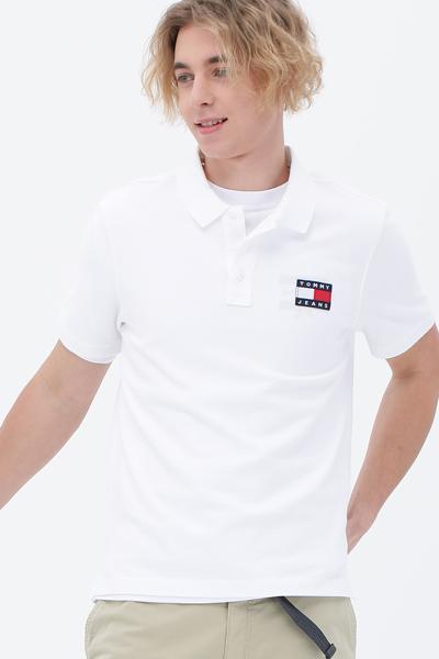 뱃지 로고 반소매 폴로 티셔츠