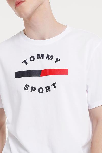 면 혼방 박시핏 프린트 반소매 티셔츠