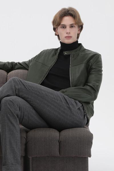 양가죽 스탠다드핏 베이직 라이더 자켓