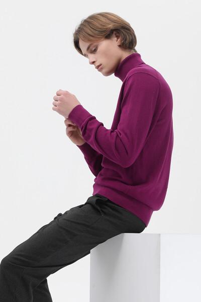 캐시미어혼방 베이직 롤넥 스웨터