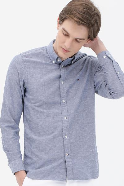면혼방 슬림핏 베이직 셔츠