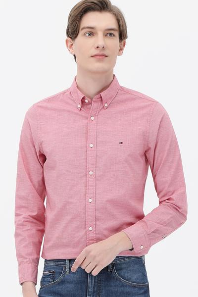 면혼방 체크 긴소매 셔츠