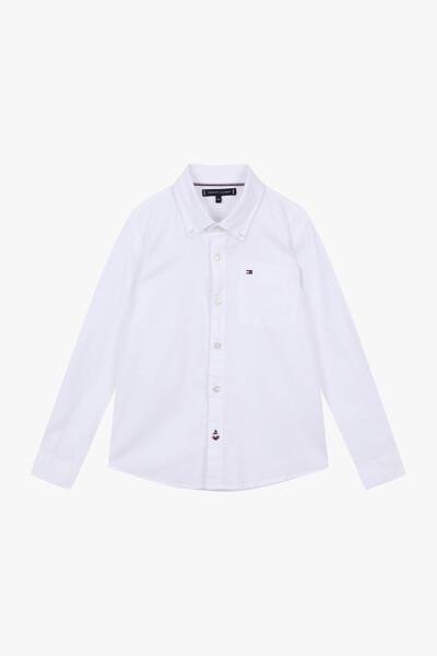 면 혼방 스탠다드핏 옥스포드 셔츠