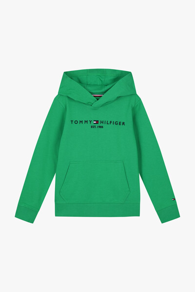 코튼 에센셜 긴소매 후드 티셔츠