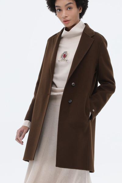 캐시미어혼방 레귤러핏 베이직 코트