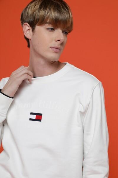 면혼방 아트워크 라운드넥 티셔츠