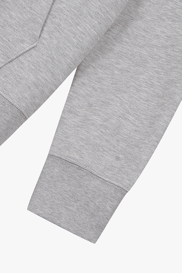 공용 면혼방 스탠다드핏 솔리드 후드 티셔츠