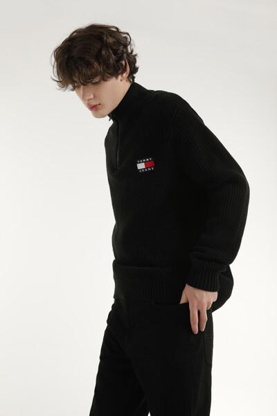 울혼방 루즈핏 아노락 스웨터