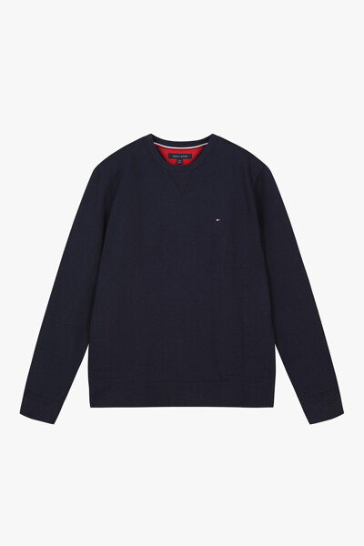 면혼방 미니 플래그 긴소매 맨투맨 티셔츠