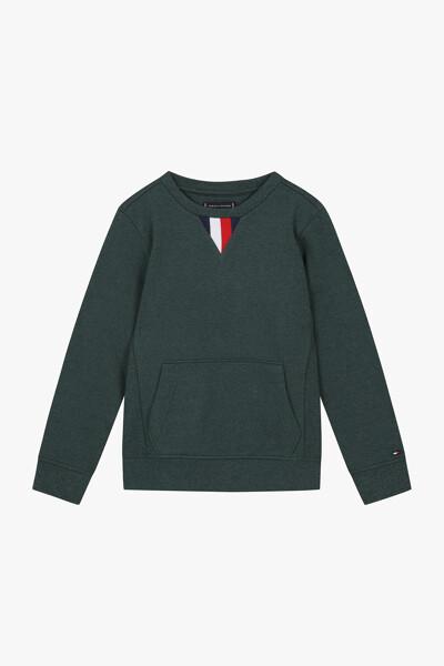 면혼방 라운드넥 긴소매 티셔츠