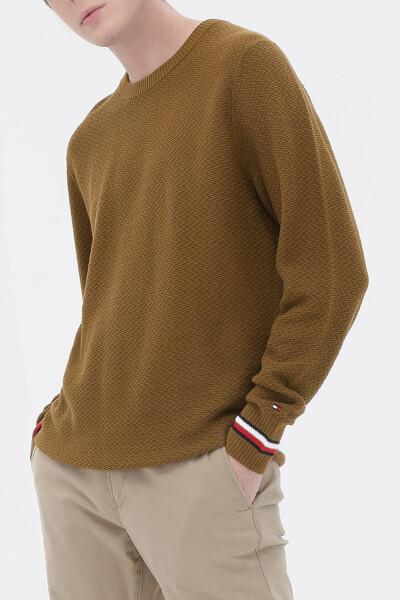 [남성] 코튼 레귤러핏 스트럭쳐 스웨터