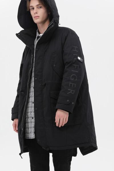 포켓  다운 코트