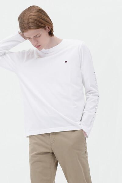코튼 스탠다드핏 레터링 프린트 티셔츠