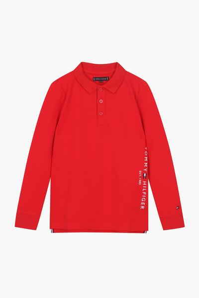 면혼방 사이드 레터링 폴로 티셔츠