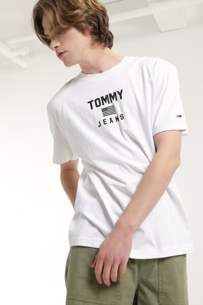 코튼 스탠다드핏 레터링 티셔츠