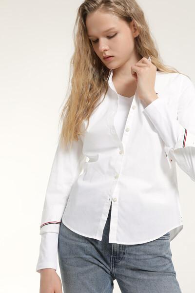 면혼방 슬림핏 포멀 베이직 셔츠