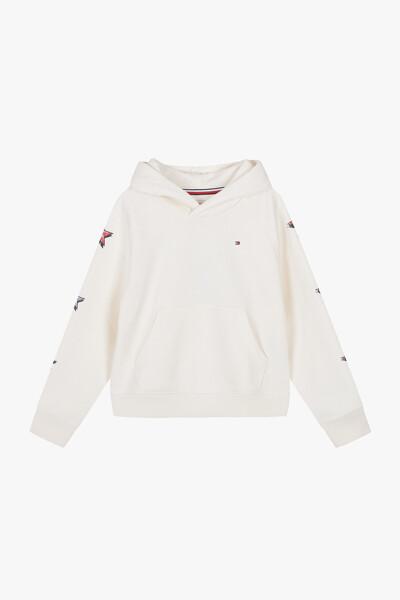 면혼방 별무늬 프린트 후드 티셔츠