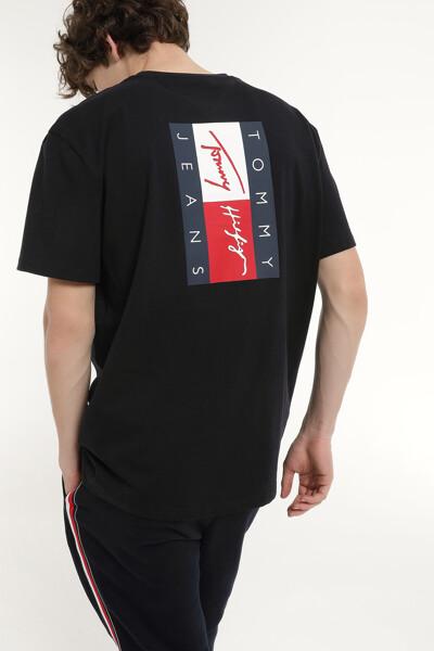 코튼 플래그 뱃지 반소매 티셔츠