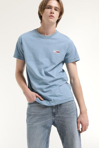 코튼 로고 프린트 반소매 티셔츠