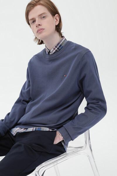 미니 플래그 크루넥 스웨터
