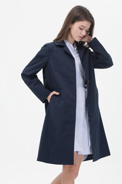 솔리드 모던 트렌치 코트