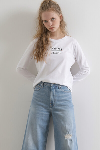 코튼 로고 프린트 크루넥 티셔츠