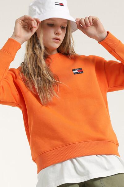 코튼 뱃지 크루넥 스웨트 셔츠