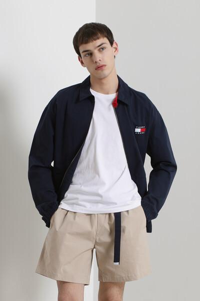 코튼 오버핏 캐주얼 집업 자켓