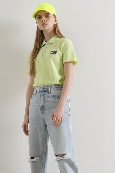 코튼 로고 뱃지 폴로 티셔츠